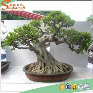 Natural Plastic Artificial Banyan Tree Bonsai Plants With Mini Bonsai Tree Sale