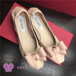 W's Fashion Super Soft Flat Lea Bow Ballerina