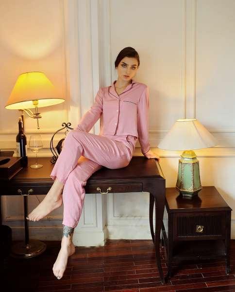 女式睡衣/Lelasilk睡衣/女式睡衣/丝绸套装