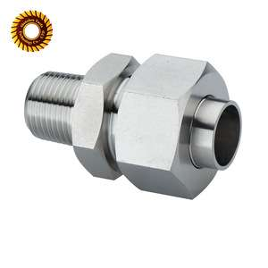 Stainless Steel Brass pipe Compression Fittings cnc machining
