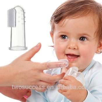批发新手指设计一次性婴儿口腔口腔卫生软硅胶婴儿手指牙刷