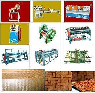 竹编机、竹编机、竹垫生产线。
