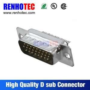 RoHS UL锌合金PC VGA 180度焊锡公26针D副连接器