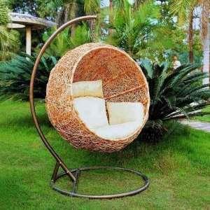 挂椅藤花园家具