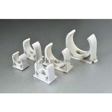 PVC Pipe Conduit Fittings PVC Saddle Clamp Clips For Pipe Like