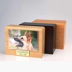 PY12 - Traditional Verticle Photo Urn - Oak / Walnut / Maple Photo Urn Boxes - Four Sizes