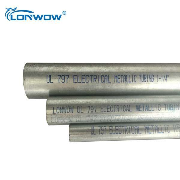 10 ft length galvanised metallic tuberia emt electrical wiring tube  manufacturers