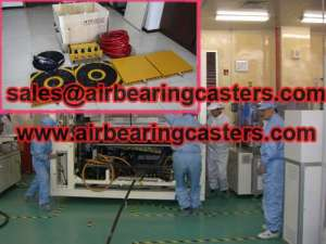 Air bearing casters 60T details