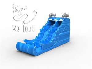 Inflatable Slide-Dolphin surfing