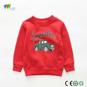 时尚风格中国制造长袖欧加棉卡通儿童运动衫
