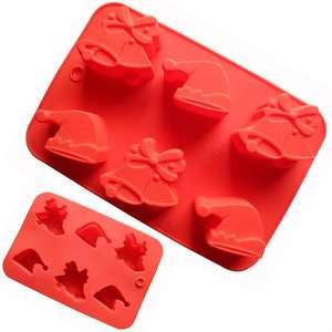 促销圣诞节硅胶蛋糕模具/硅胶烘焙模具