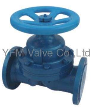 PFA/FEP lined weir type Diaphragm Valve Pneumatic Actuator Like