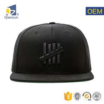 Wholesale Black Blank Custom Logo 3d Embroidered Patches Caps Hats