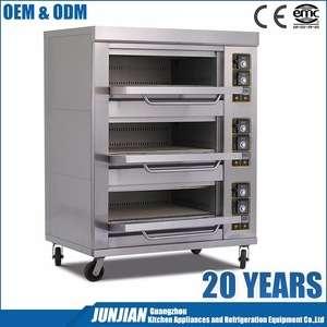1 2 3层商用比萨饼烘焙不锈钢烤炉,用于面包制作