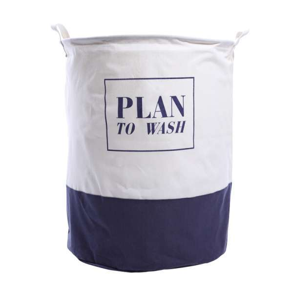 Puting Puting Foldable Canvas Washing Laundry Clothes Basket Toy Storage  Bag Large Box Customized My Laundry