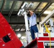 hydraulic telescopic mast vehicle mounted for fire fighting truck 6.9m