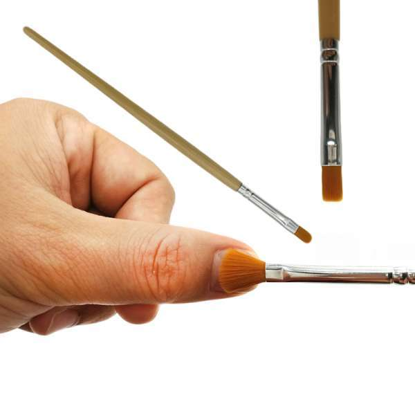 专业OEM纯橙色合成修脚指甲刷