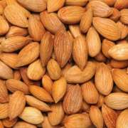 Premium healthy snack Organic roasted salted almond kernels nuts