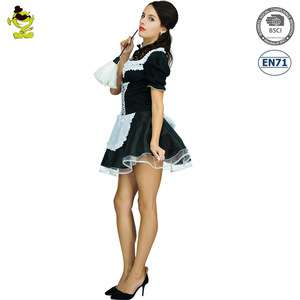 Halloween Women Hot Sexy French Maid Carnival Party Costume Anime