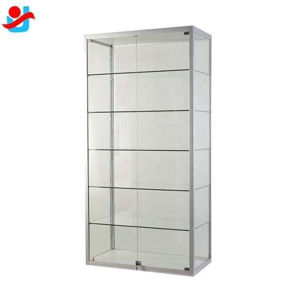 Full Glass Modern Titanium Alloy, Modern Display Cabinet