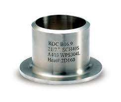 stainless steel 304/316 pipe fitting lap joint stub end