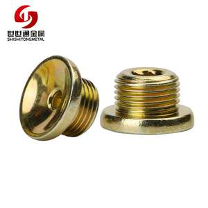 Steel Metal Furniture Hardware Inner Hex Nut Bolt With Hole In Head