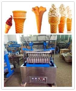 Superior Ice Cream Cone In Snack Machine Stainless Steel Ice Cream Cone Making Equipment New Condition Ice Cream Cone Maker