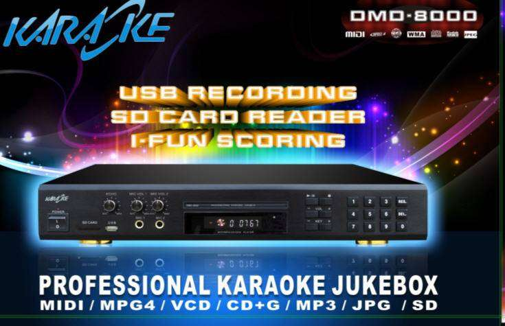New Functions Multi-Format Karaoke DVD Mp4 Divx Player With