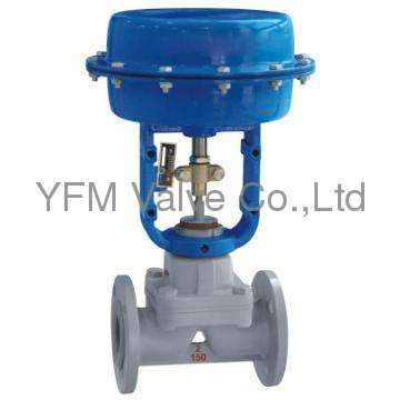 Lined PFA Pneumatic Diaphragm Valve weir type valve Like