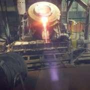 Iron scrap melting furnace