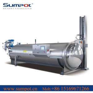 Automatic water spray retort for meat can autoclave sterilizer