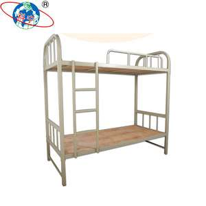 China Oem Cheaper Steel Twin Over Twin Metal Bunk Bed For Dormitory