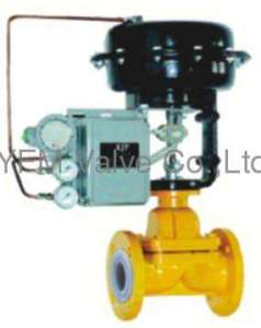 PFA/FEP lined weir type Diaphragm Valve Pneumatic Actuator Like
