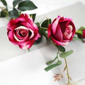 3-Heads artificial Silk Rose