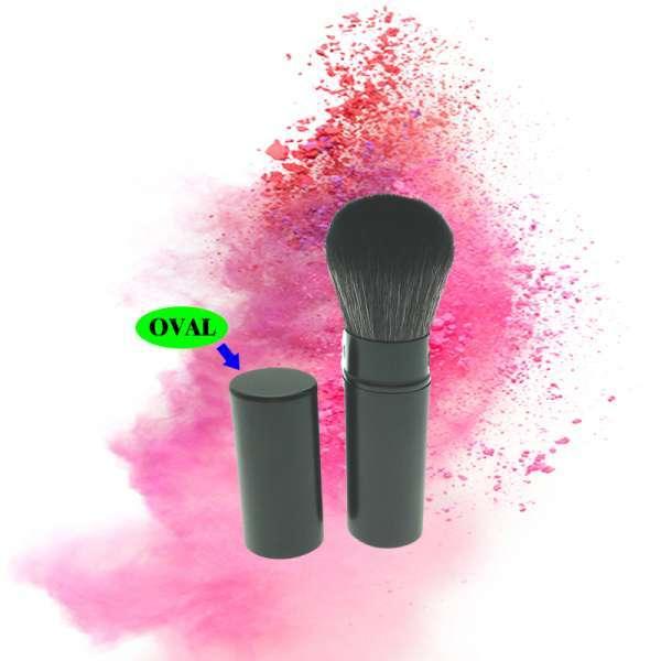 最受欢迎的优质单椭圆形可缩回化妆刷