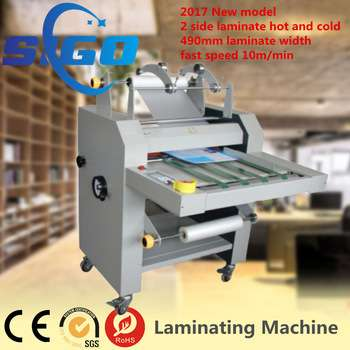 Automatic fast speed double side bopp film laminating machine