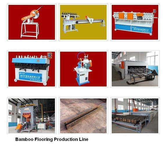 bmboo地板机竹地板竹地板生产线覆膜机