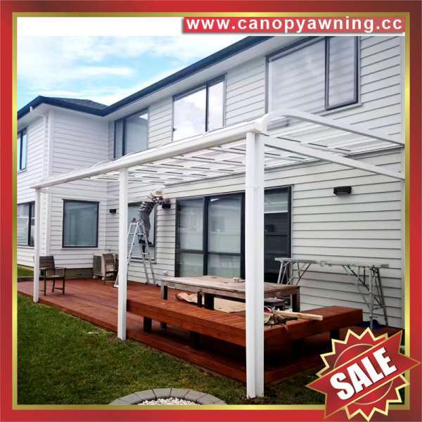 Outdoor house patio gazebo door window pc polycarbonate aluminum canopy awning shelter kits