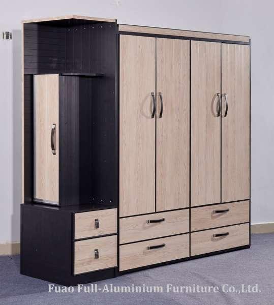 Aluminum Bedroom Furniture Aluminum Combined Wardrobe