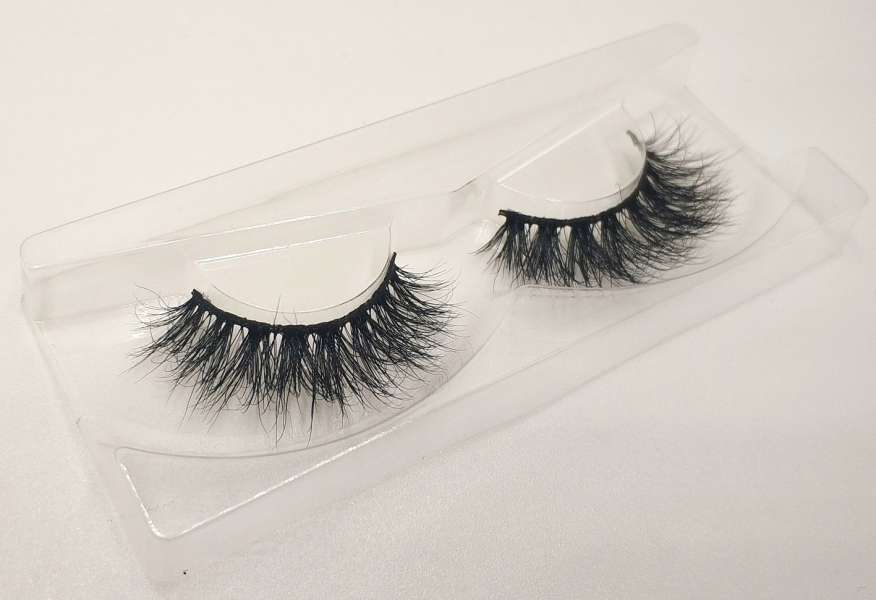 Reusable 3D Mink False Eyelashes 100% Mink Fur Handmade Fake Lashes 1 Pair PackageMTL624