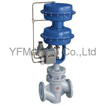 Pneumatic Through way type PFA lined globe control valves Like