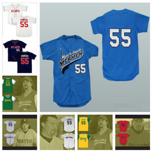 Kenny Powers #55 Mexican Charros Atlanta New York Boston Myrtle Beach Mermen All Stitched Baseball Jerseys Free Shipping