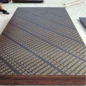 18mm WBP Glued Brown Film Faced Marine Grade Plywood for Concrete Formwork