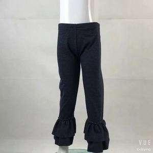 批发儿童精品服装牛仔布覆冰荷叶边裤婴儿服装儿童荷叶边裤