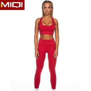 f46c1c0a15 Sexy Dry Fit Bodybuilding Ladies Gym Wear Wholesale Yoga Set OEM Custom  High Quality Fitness Women ...