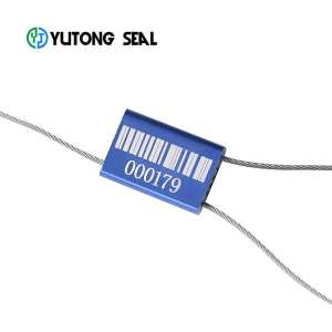 high security pull tight aluminum alloy cable seal with steel wire
