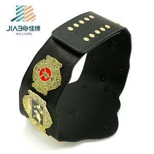 高品质定制军用皮革,带镀金跆拳道金属人带标志