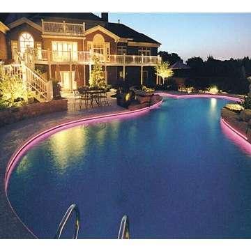 Fiber Optic Pool Light With 45w Led Engine Side Glowing Like