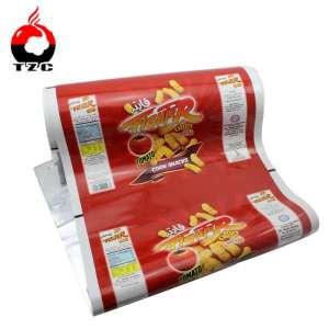 factory custom snack food packaging metallized potato chips packaging film