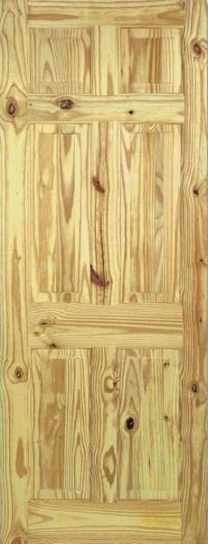 Knotty Pine Wooden Door